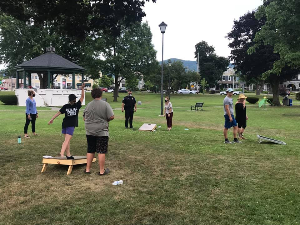 Neighborhood Games at a Youth Pop-Up Event, July 2020